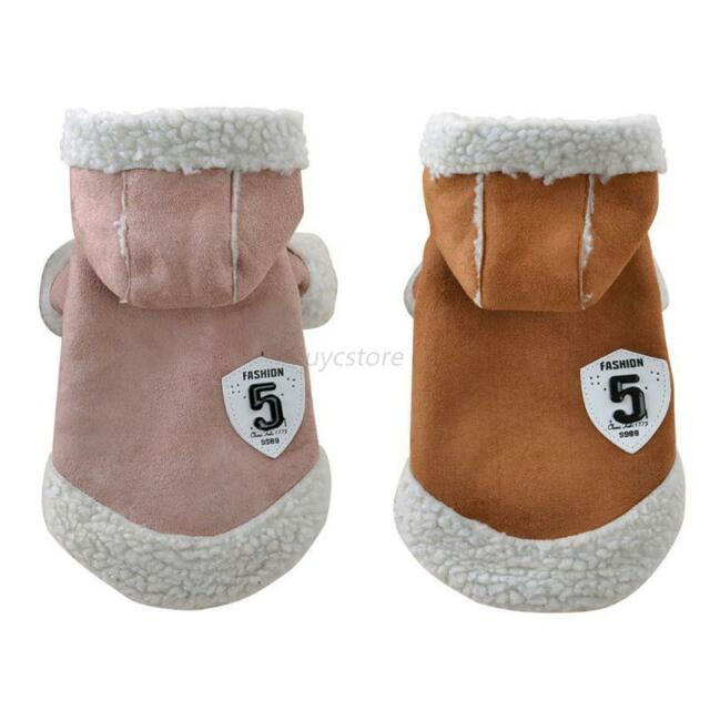 Cute Pet Dog Jacket Clothes Puppy Cats Winter Warm Sweater Coat Clothing Apparel