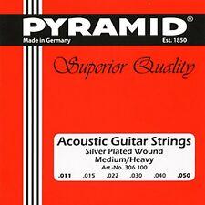 Pyramid Akustik Gitarre Acoustic Guitar Medium/Heavy .011-.050 Saiten SATZ