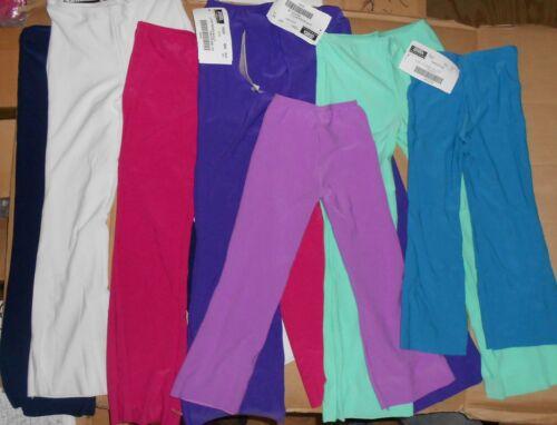 Bootcut Jazz Pants matte Spandex Dance  20 Colors girls//ladies NWT Dance Theatre
