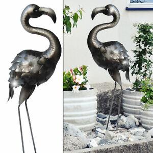 Garten Dekoration Kranich Terrasse Stein Figuren Figur Statue Skulptur Vogel Neu