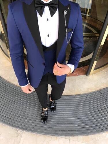 comoda vita tinta 50 vestibilità da uomo con unita attillata Tuta da blu blu uomo wqORvP