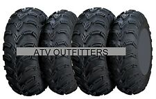 "FOUR ITP MUD LITE 25"" ATV UTV TIRES SET OF 4 25x8-12 front 25x10-12 rear"