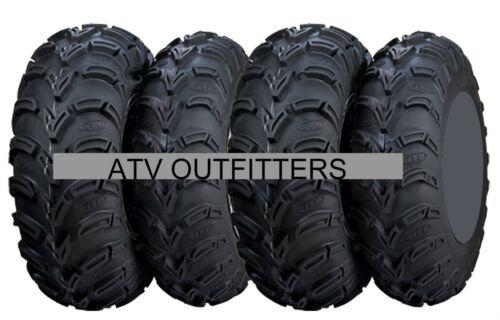 "FOUR ITP MUDLITE AT 25/"" ATV UTV TIRES SET OF 4 25x8-12 front 25x11-10 rear 6 PLY"