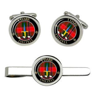 Dalzell-Scottish-Clan-Cufflinks-and-Tie-Clip-Set
