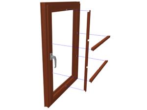 NEU: Fenstersprossen für innen, Vorsatzsprossen ohne Bohren, abnehmbar, Vollholz