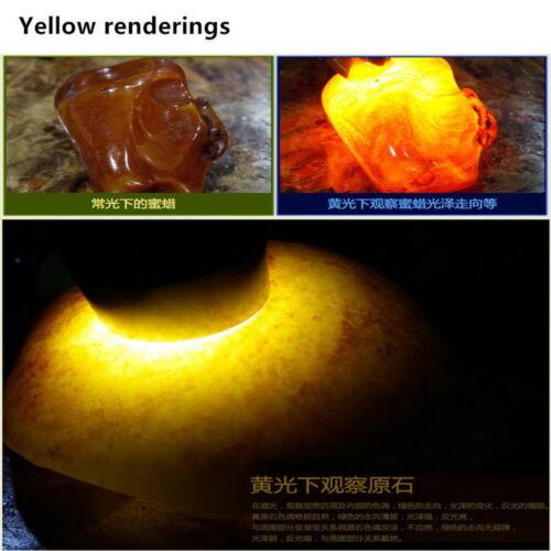 10 W 4 lumières jaune blanc 365 Presque comme neuf 395 Presque comme neuf Amber Jade GEM UV Blacklight Lampe de Poche
