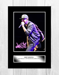 Mike-Shinoda-Linkin-Park-A4-signed-photograph-picture-poster-Choice-of-frame