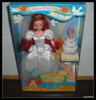 Barbie 1997 Mattel Disney The Little Mermaid Ocean Bride Ariel Doll