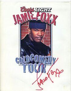 JAMIE-FOXX-COLD-COMEDY-TOUR-Autographed-Original-Advertising-poster-Backstage