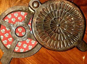 Antique-Spice-Box-with-Swing-LId-Hand-Carved-Floral-Motif-Native-Primitive