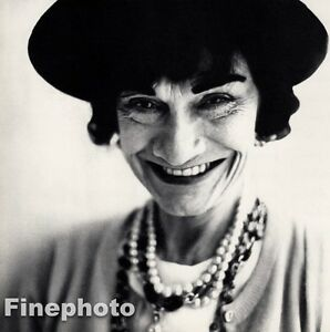 c195d66c85f8 Image is loading 1958-Vintage-GABRIELLE-CHANEL-COCO-France-Fashion-Designer-