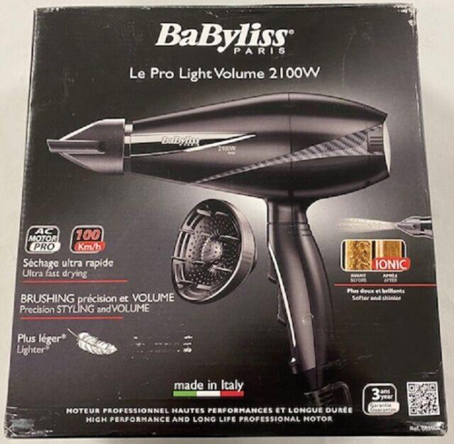 BABYLISS Sèche Cheveux Professionnel Pro Light Volume 2100W Séchage Ultra Rapide