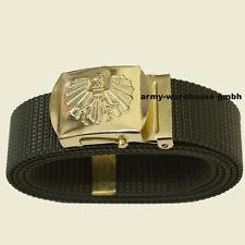 """140cm, österr. Bundesheer Hosengürtel """"Offizier"""" gold, BH, ÖBH, neu, oliv"""