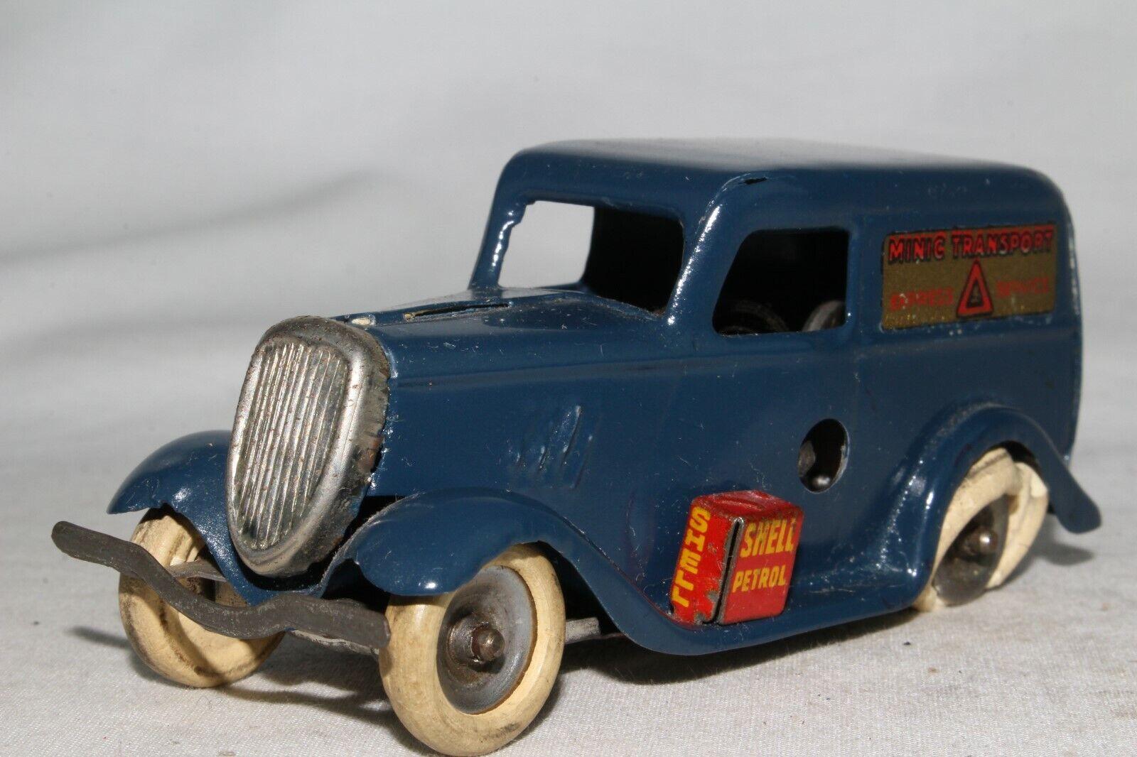 Triang Minic década de 1930 Ford van de entrega de luz, agradable Original