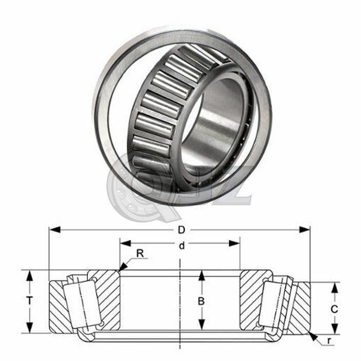 2x 47686-47620 Tapered Roller Bearing QJZ New Premium Free Shipping Cup /& Cone