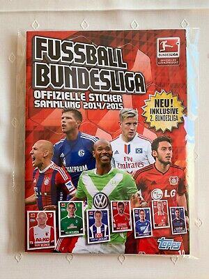 TOPPS Bundesliga 2014-2015  SET ALLE  Sticker und Leeralbum