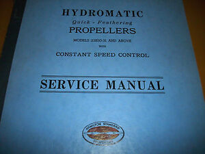 hamilton standard hydromatic props service manual ebay rh ebay com