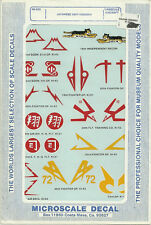 1/48 MicroScale Decals Japanese Unit Insignia Ki-21 Ki-43 Ki-44 Ki-45 48-303