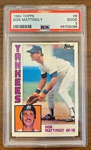 1984 Topps Don Mattingly New York Yankees Rookie Baseball Sports Card PSA 2 #8