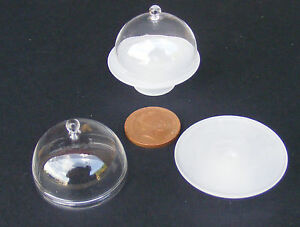 1-12-Scale-Glass-Cake-Stand-Cover-Dolls-House-Miniature-Food-Accessory-Go21L