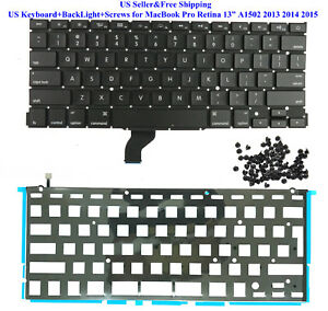 KEYBOARD /& BACKLIGHT MacBook Pro Retina 13 A1502 Late 2013,Mid 2014,Early 2015