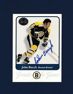 Johnny Bucyk signed Boston Bruins 2001 Greats of The Game hockey ... c82ae9e09