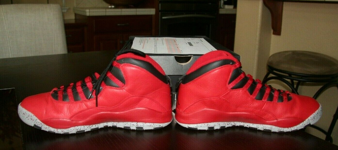 09dfd9cee4c NDS Nike Air Jordan retro 10 30th Anniversary Gym Red 705178-601 Size 11