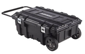 Husky Tool Cart >> Husky 35 In. Mobile Jobsite Toolbox Portable Rolling Tool