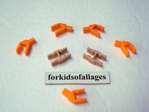 K/'NEX Micro Parts Orange Super Swing Handle Clips Spare KNEX Lot Of 4