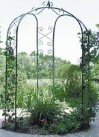 Arbor Garden 3 Sided Metal Arch Backyard Wedding Gazebo Trellis Patio Decor