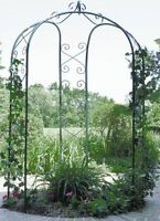 Arbor Garden 3 Sided Metal Arch Backyard Wedding Gazebo Trellis Patio Decor