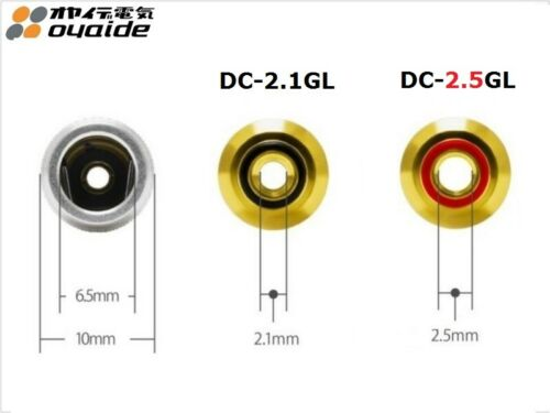 Japan Oyaide DC-2.5GL Right-angle Gold Plated DC Barrel plug for Hi-End Audio