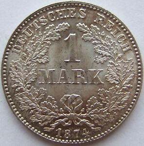 Top 1 Mark 1874 C En Presque Pièce De Monnaie Très Rare Ebay