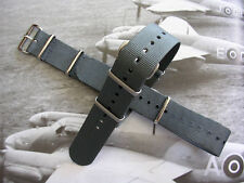 22mm British Admiralty Grey SS NATO G10 military RAF watch band strap IW SUISSE