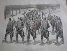 Returning from Snow Shoe Drill Canadian Artillery St Louis Gate Quebec 1890