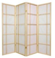 Brand 4-panel Multifunction Paper Shoji Screen Room Divider- Nature- Asdi