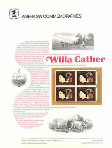 22-8c-Willa-Cather-Stamp-1487-USPS-Commemorative-Stamp-Panel-in-orig-sleeve