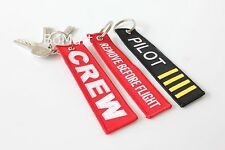 eba1cbcc8a5 Remove Before Flight Keyring Keychain Captain Gold Crew 4 Gold ...