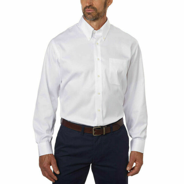 Kirkland Signature Tailored Fit Non-Iron Button Down Collar Shirt #610447 NWT