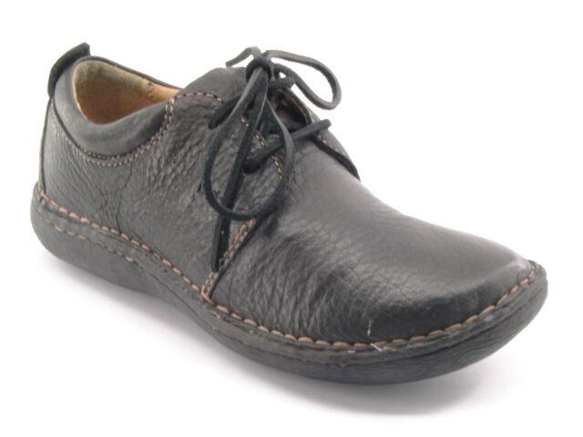 Nuevo B.O.C Mujeres Mujeres Mujeres Negro Cuero Oxford con Cordones Casual Caminar Zapato Talla 6.5 M 4e1b44