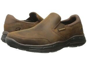 bf1e8e6beec Image is loading Mens-Skechers-Relaxed-Fit-Glides-Calculous-Dark-Brown-