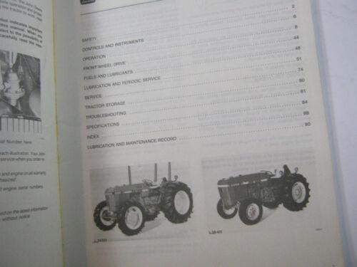 JOHN DEERE 2150 /& 2255 TRACTORS OPERATOR/'S MANUAL OM-L39646 L2