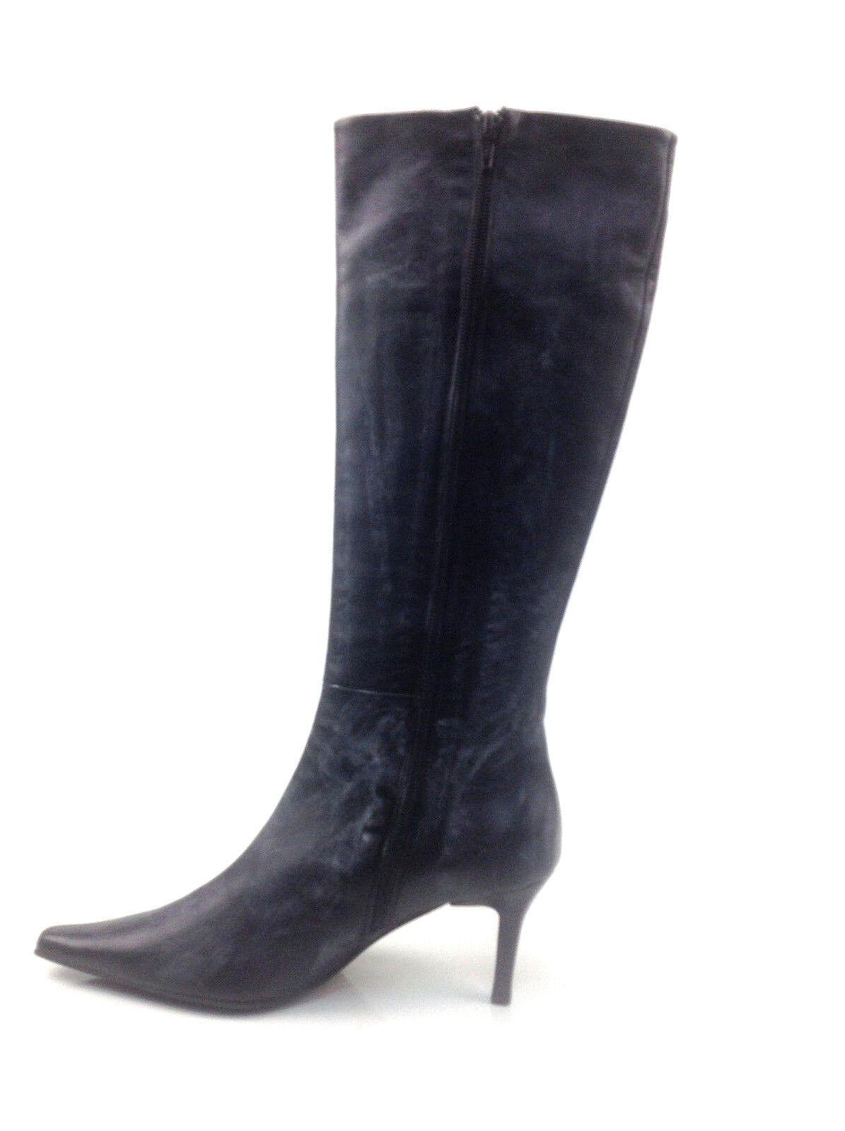 Versani Nappa black Hige Boots Size 6.5 US