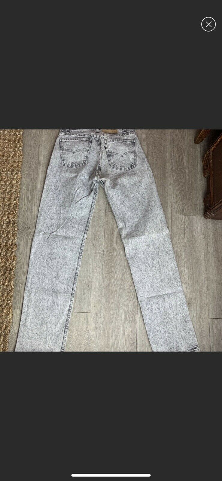 vintage high rise levis made in USA Gray - image 10