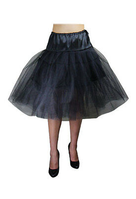 Black Petticoat Rockabilly 50's Chic Star Swing Crinoline Tulle Plus Size 8-30
