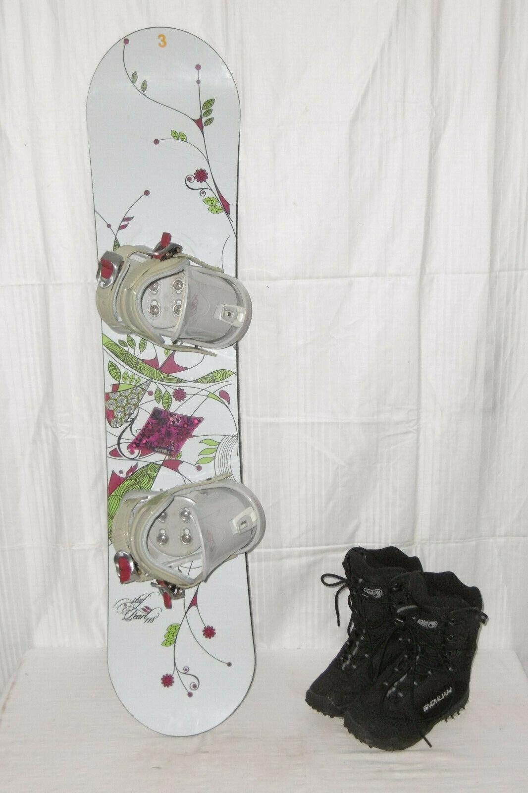 STUF   PEARL   TOP JUNIOR SNOWBOARD 118 CM + SNOWJAM Stiefel GR. 36 IM SET