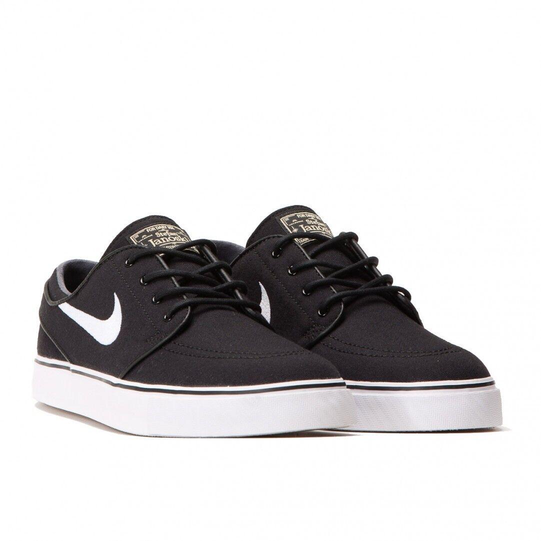 Nike sb zoom stefan janoski nero / bianco 615957-028 lr msrp tela