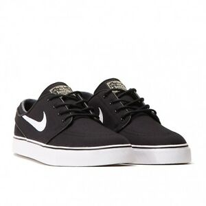Image is loading Nike-SB-Zoom-Stefan-Janoski-Black-Canvas-White-