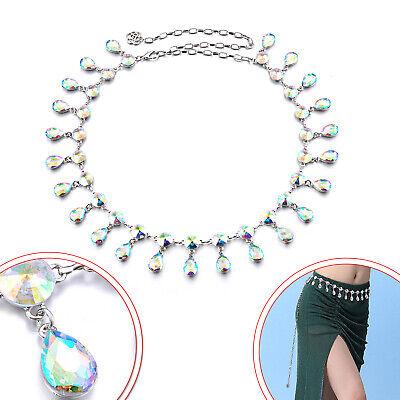 120cm Argento Strass Ab Diamante Catena Di Metallo Cintura Per Pezzo Corto Chiaro E Distintivo
