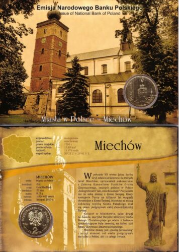 ■■■ Poland 2010 2 Zlote Polish Cities MIECHÓW Miechow Blister UNC ■■■